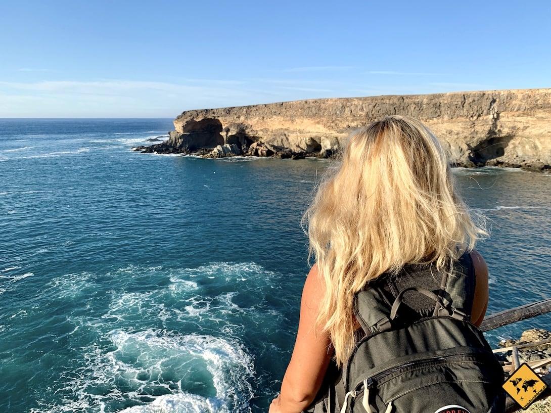 Aussicht Höhlen Meer Ajuy Fuerteventura