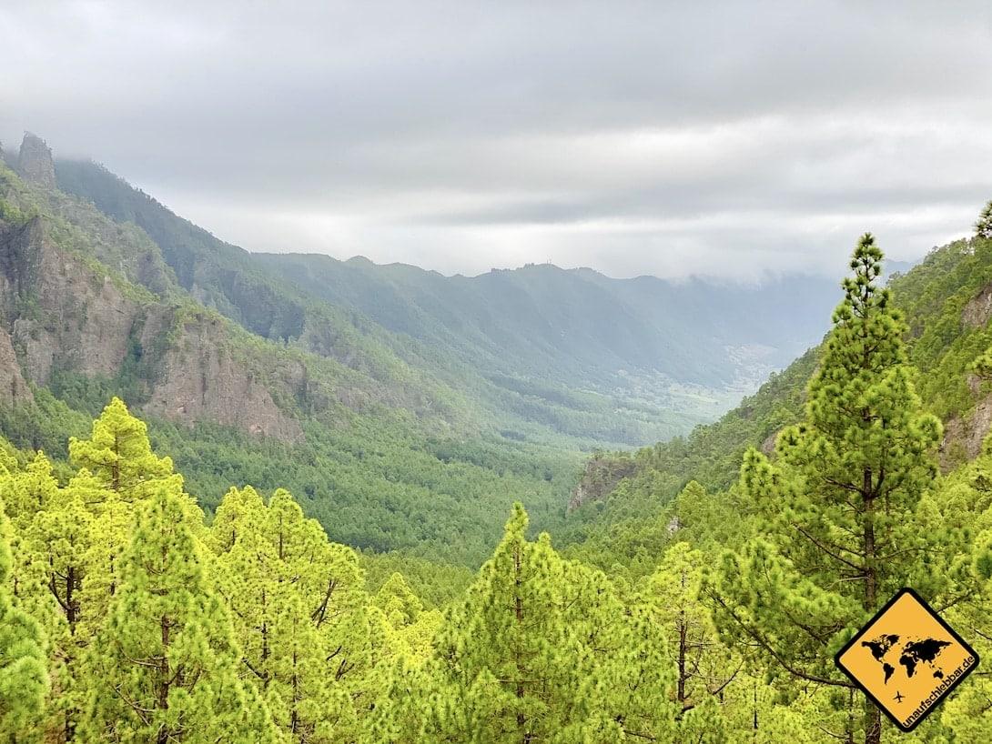 Aussicht Mirador de la Cumbrecita Ausflugsziel La Palma