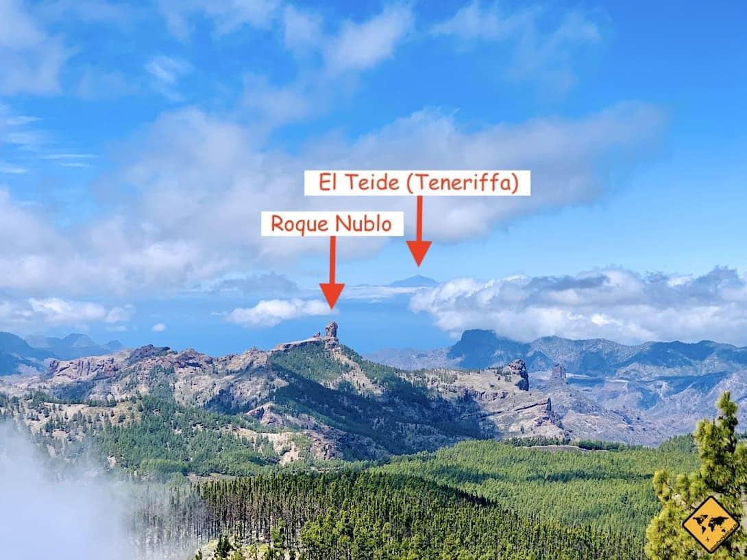 Aussicht Pico de las Nieves El Teide
