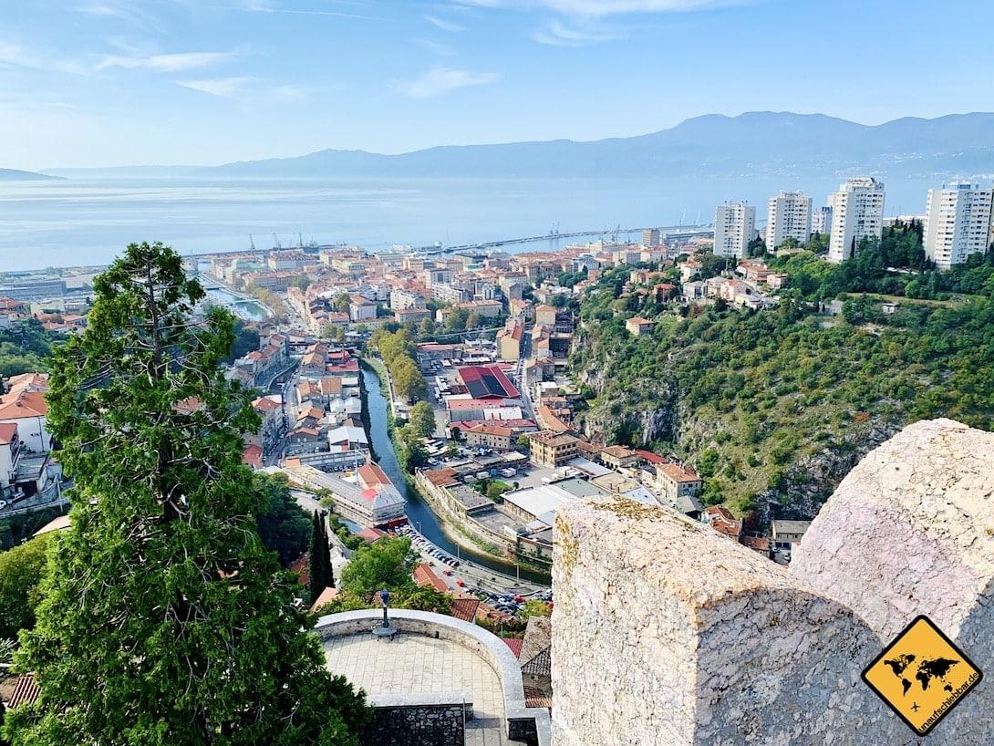Aussicht Rijeka Trsat Castle