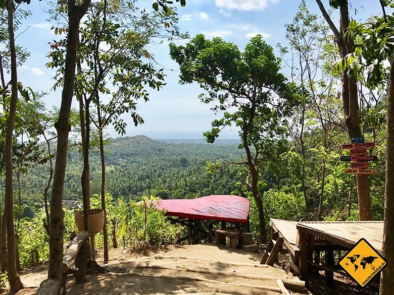 Aussichtsplattform Herz Lombok Wasserfall Park Tiu Pituq