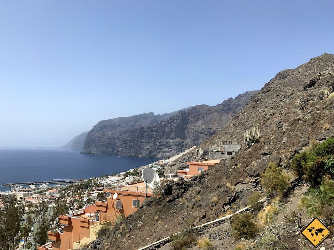 "Blick vom Aussichtspunkt ""El Mirador Archipenque"" auf Los Gigantes Teneriffa"