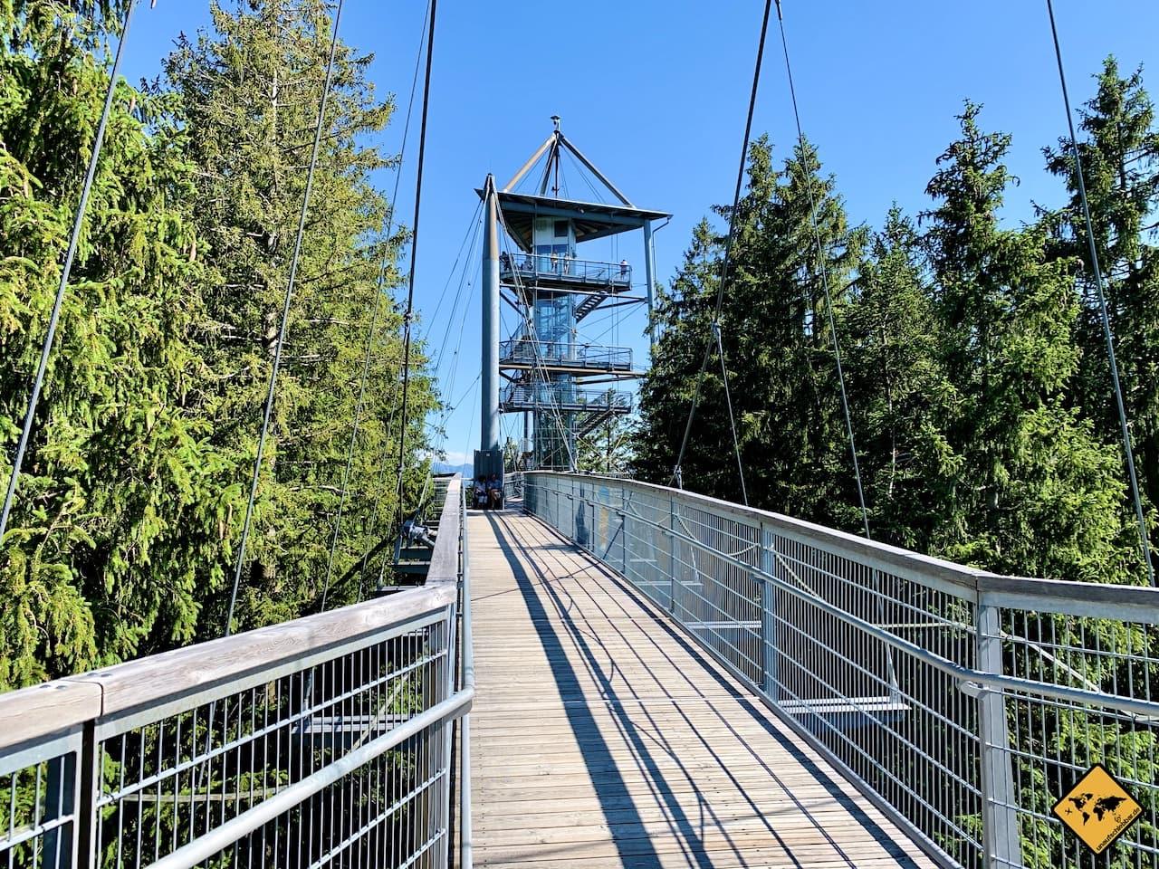 Aussichtsturm Hängebrücke Skywalk im Allgäu