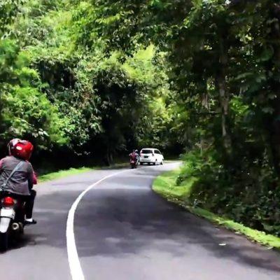 Auto mieten auf Bali - Die meisten Straßen sehen ungefähr so aus wie diese: In gutem Zustand, aber nicht allzu breit