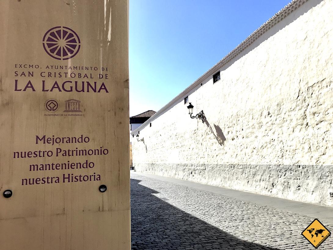Bei unserem Besuch wurde das Ayuntamiento de San Cristóbal de la Laguna Teneriffa gerade renoviert