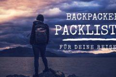 Backpacker Packliste zum Abhaken & Ausdrucken für Australien, Thailand, Neuseeland, Bali u.vm.
