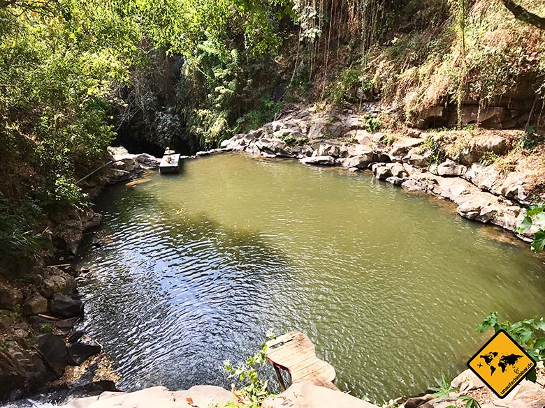 Badesee Lombok Wasserfall Park Tiu Pituq