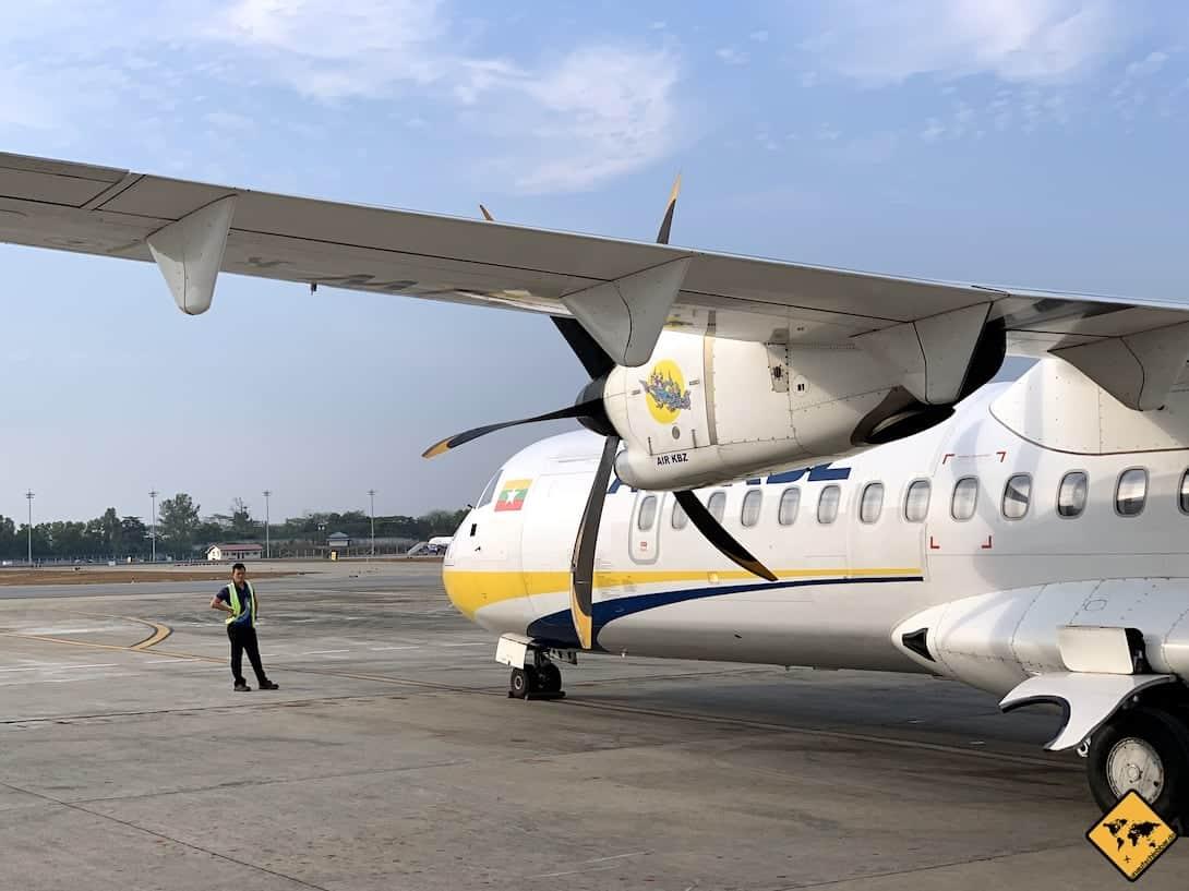 Bagan Anreise Flugzeug