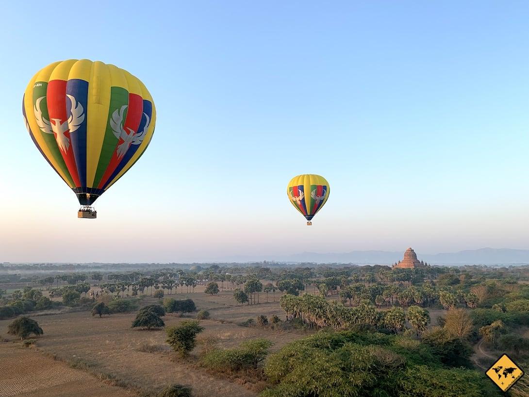 Bagan Highlights Ballonfahrt