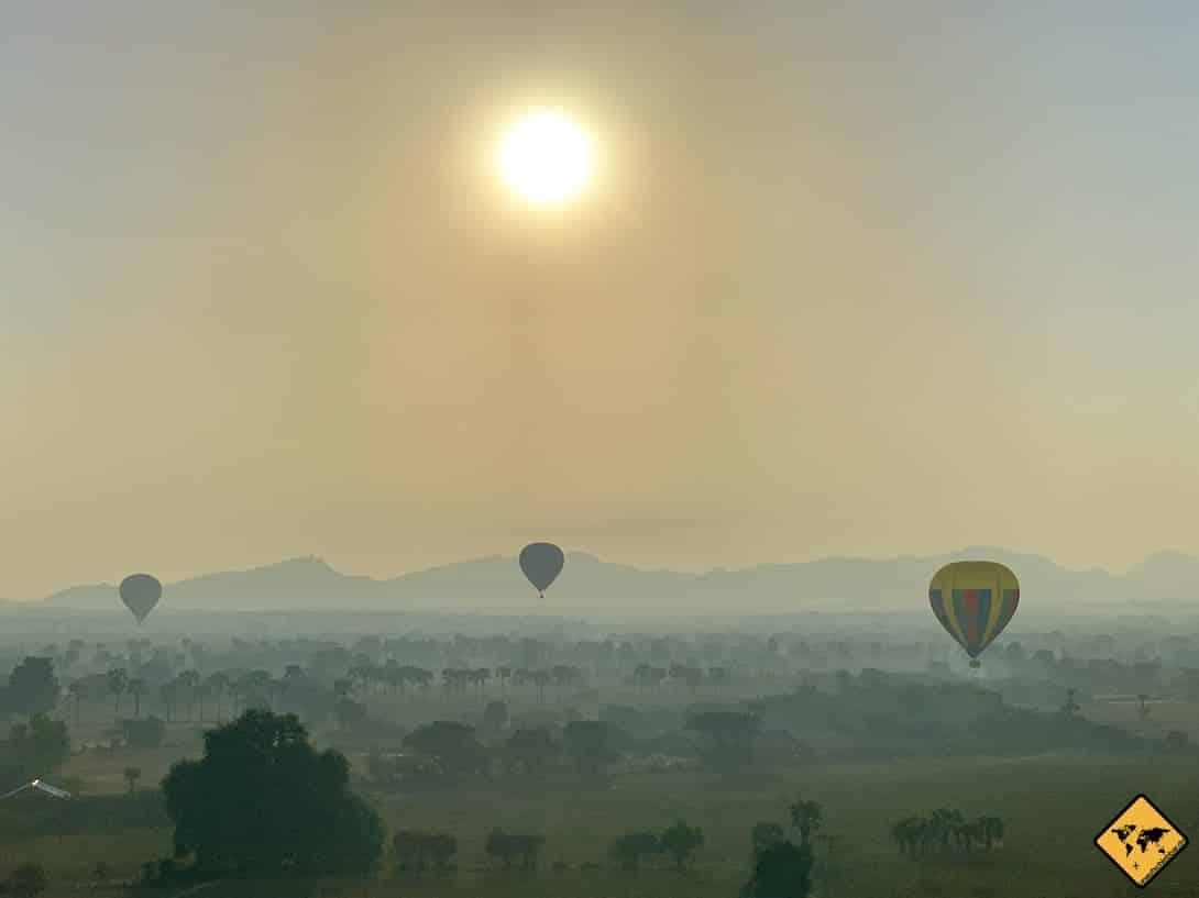 Bagan Myanmar Ballons Sonnenaufgang