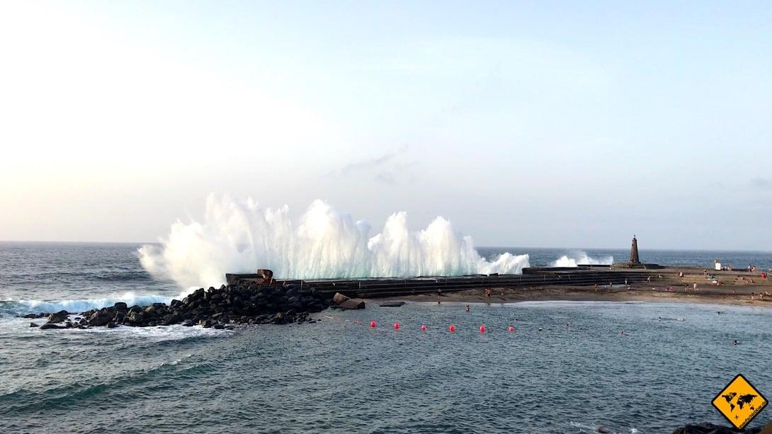 Bajamar Teneriffa Strand Brandung