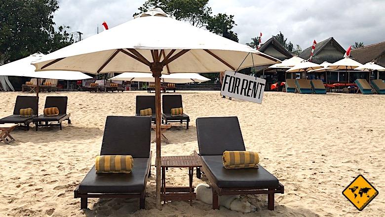 Bali Aktivitäten Strandtag
