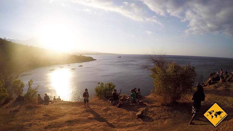 Bali Amed Wetter Bucht Sonnenuntergang