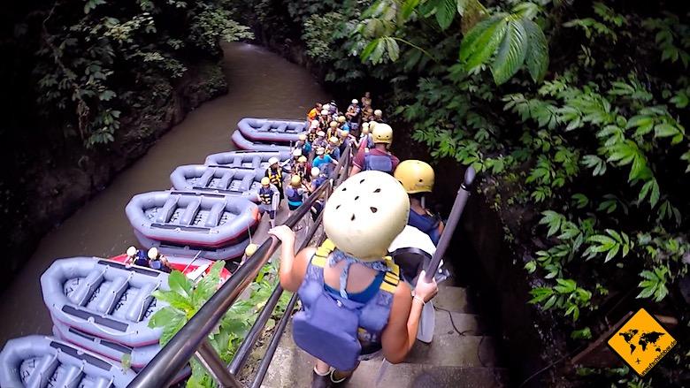 Bali Ausflüge Wildwasser Rafting Ayung