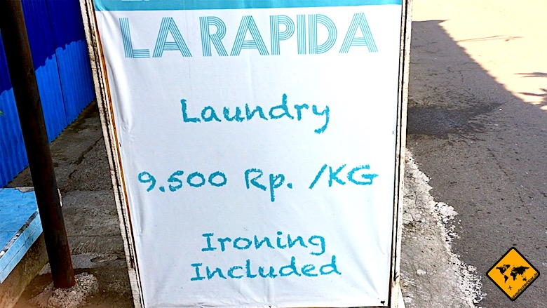Bali Backpacking Laundry Service