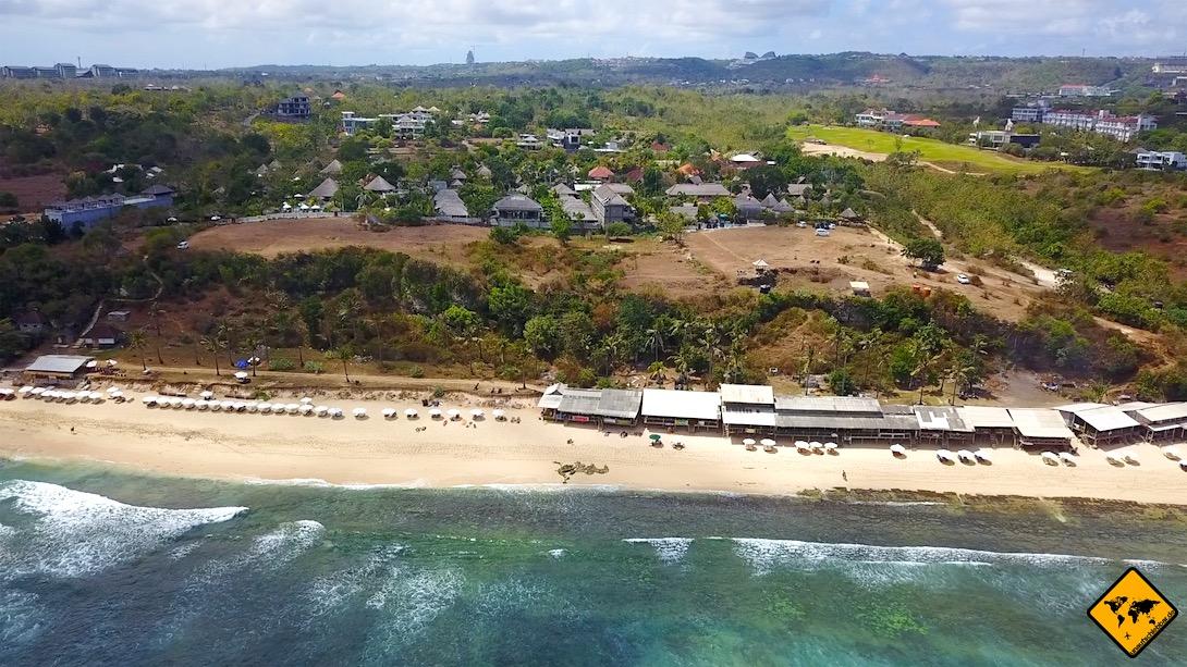 Bali Balangan Beach Vogelperspektive