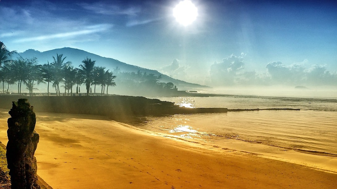 Bali Candi Dasa Strand Meer