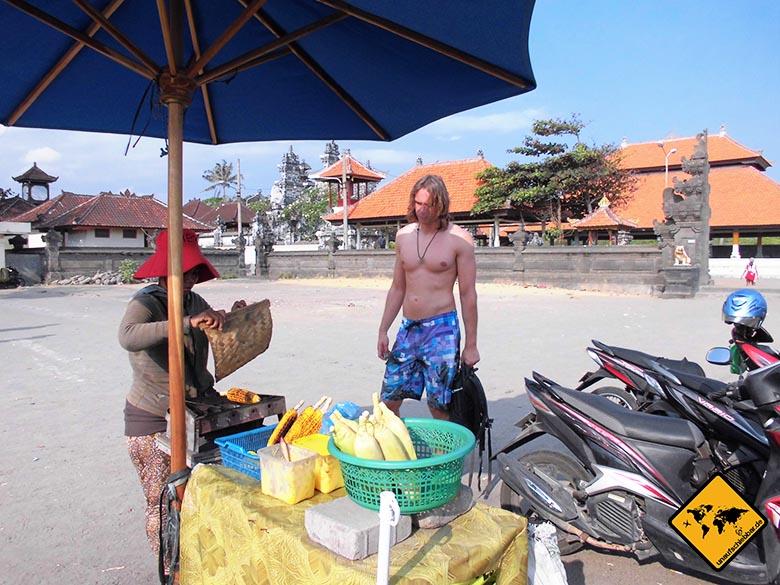 Bali Essen - balinesische Küche - Maisstand