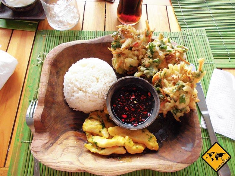 Essen auf Bali - balinesische Küche - Reis frittiertes Gemüse