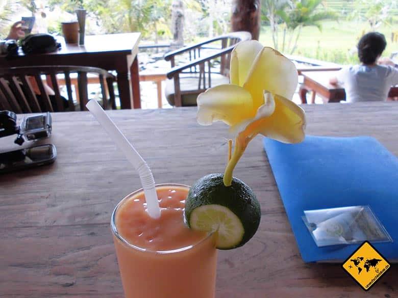 Bali Essen - balinesische Küche - Smoothie vegan