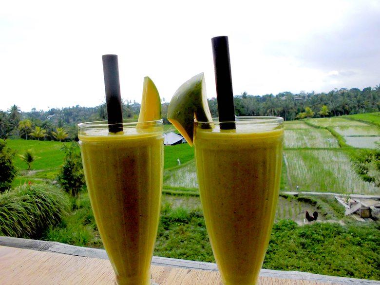 Bali Honeymoon Reisfeld Restaurant