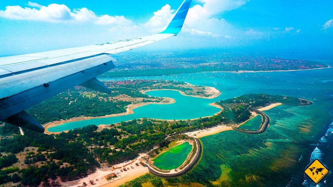 Bali Landeanflug Luftperspektive
