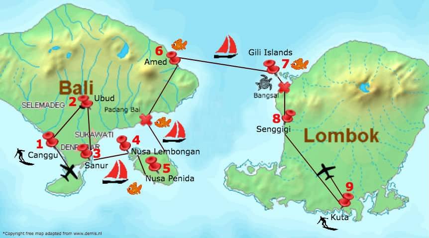 Bali Lombok Rundreise Unsere Routen Empfehlung Fur 3 Wochen