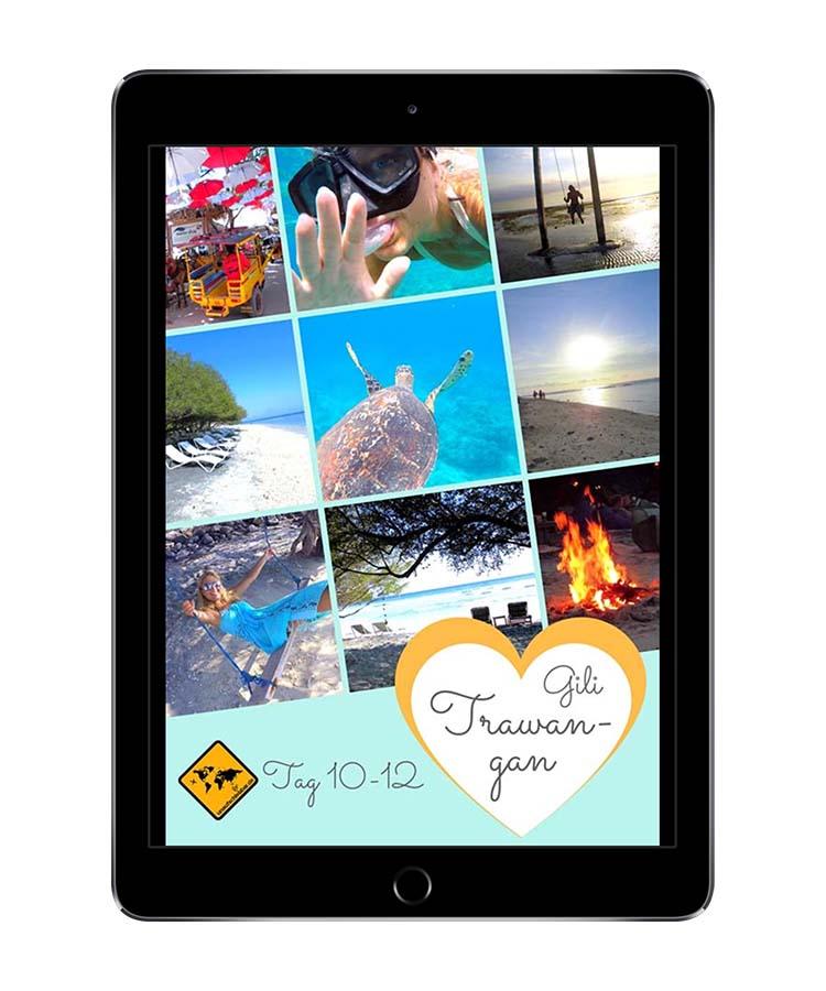 Bali Lombok Rundreise Reiseführer - Gili Trawangan 2 Wochen iPad