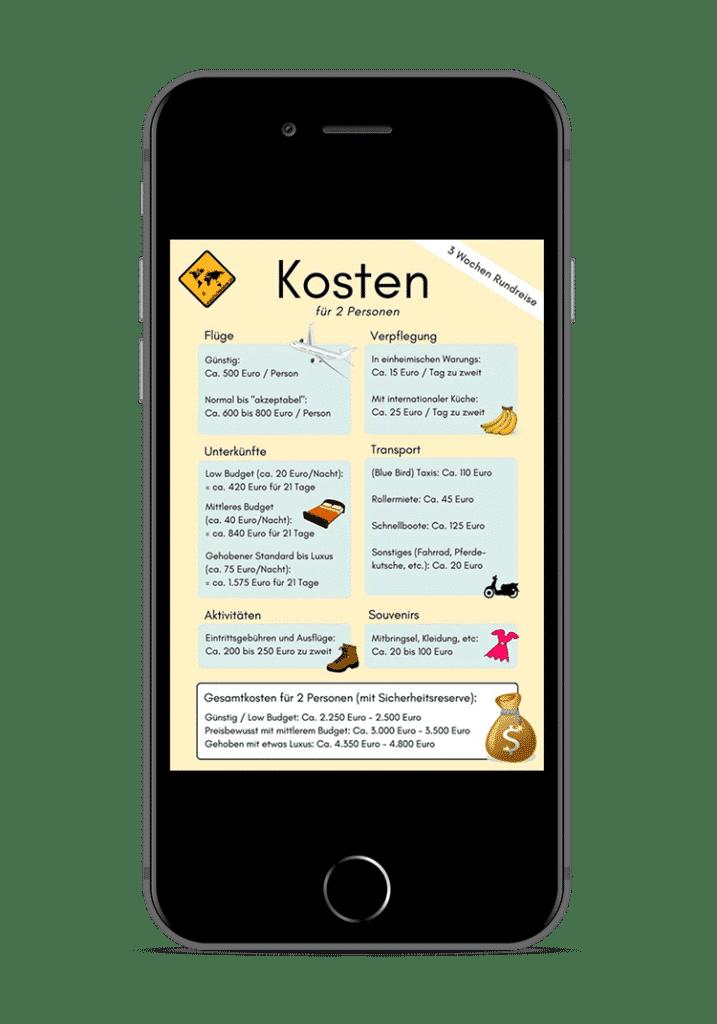 Bali Lombok Rundreise Reiseführer - Kosten 3 Wochen iPhone