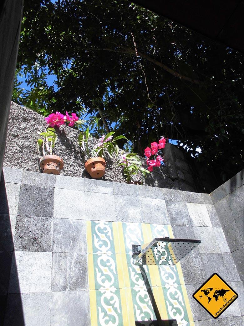 Bali Marina Villas Amed Dusche offen