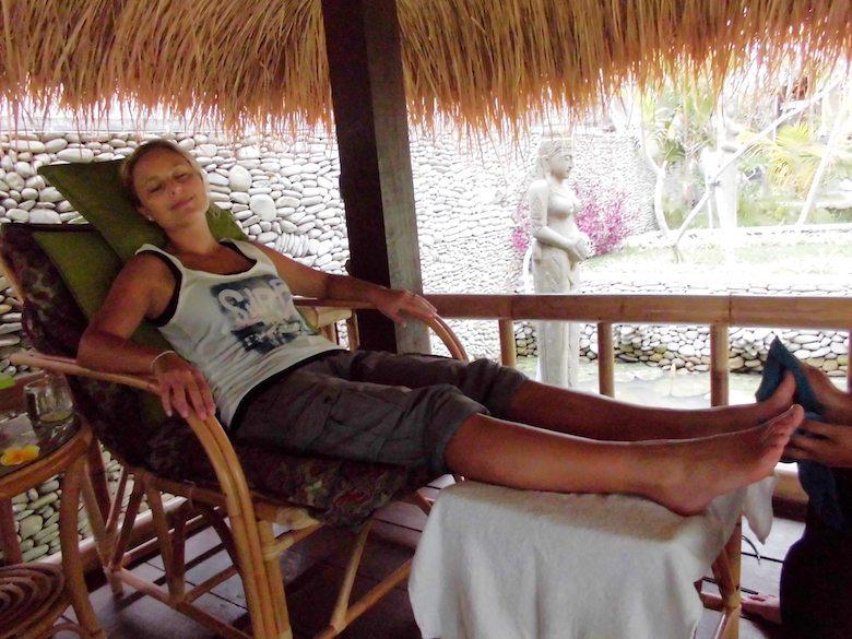 Bali Regenzeit Massage