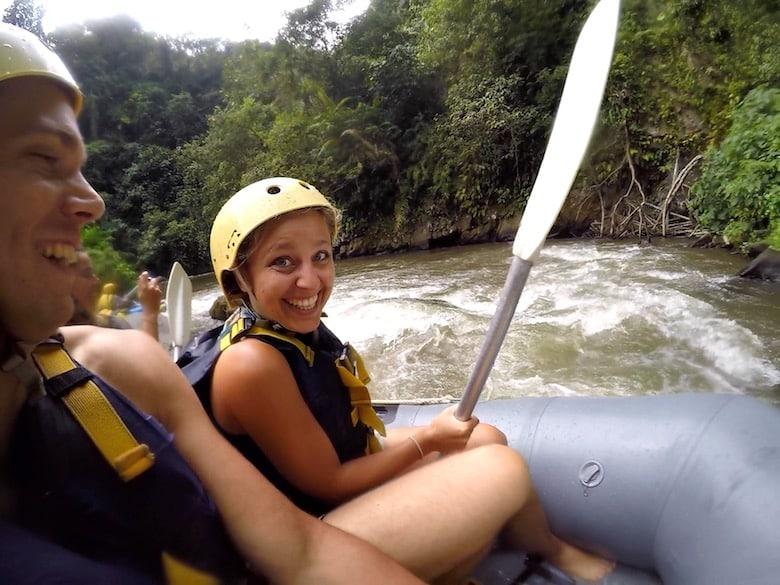 Bali Regenzeit Rafting