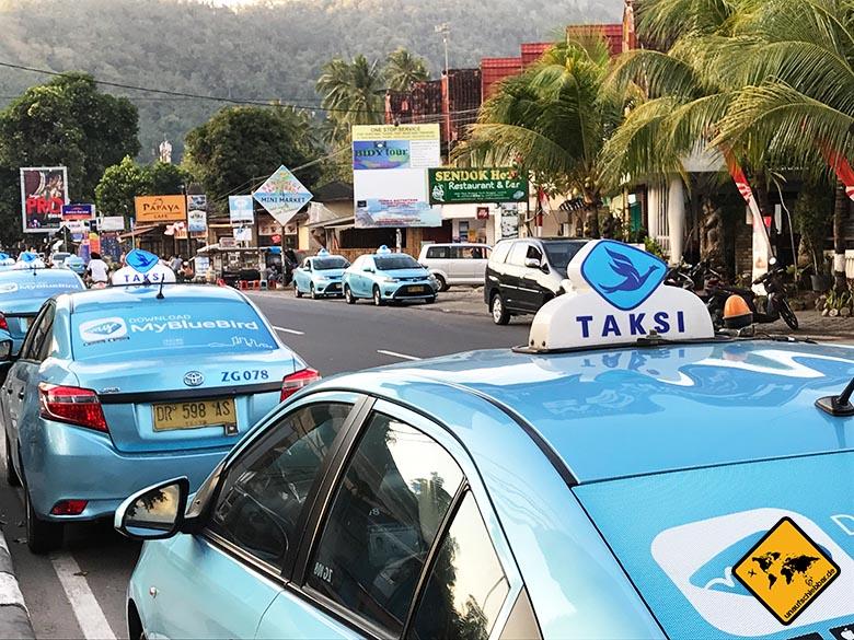 Bali Reisetipps Blue Bird Taxi