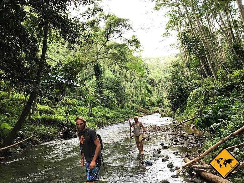 Bali Reisetipps Goa Rang Reng Flussbett Trekking