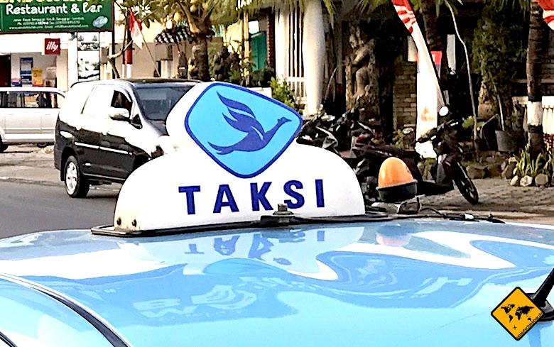 Bali Rucksackreise Taxi teilen
