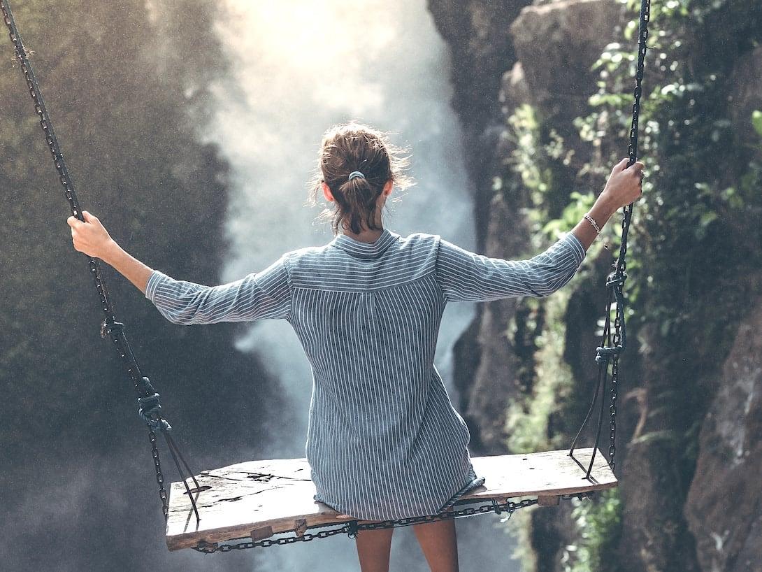 Bali Schaukel Tegenungan Wasserfall