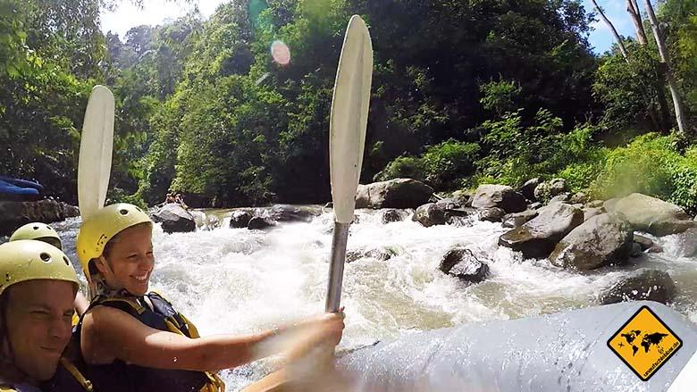 Bali Sehenswürdigkeiten top 10 Ayung Fluss Bali Rafting