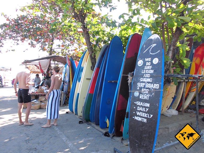 Bali Sehenswürdigkeiten top 10 Canggu Surfshop