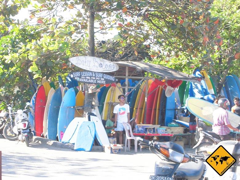 Bali Sehenswürdigkeiten top 10 Canggu Surfstand