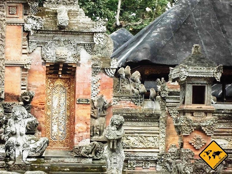Bali Sehenswürdigkeiten top 10 Monkey Forest Ubud Affentempel