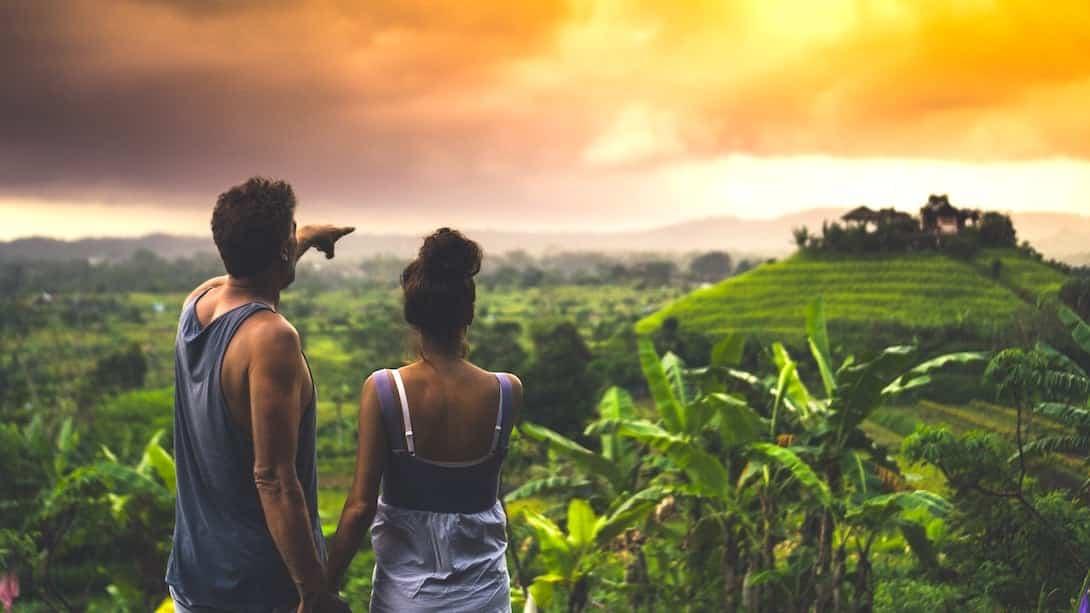 Bali Tourismus Reisterrassen