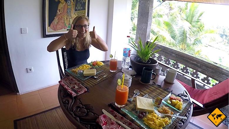 Bali Urlaub Kosten Frühstück