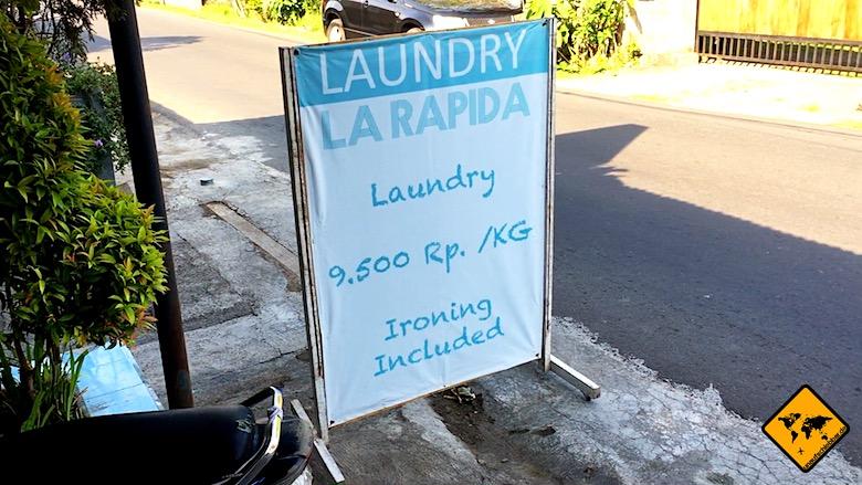 Bali Urlaub Kosten Laundry