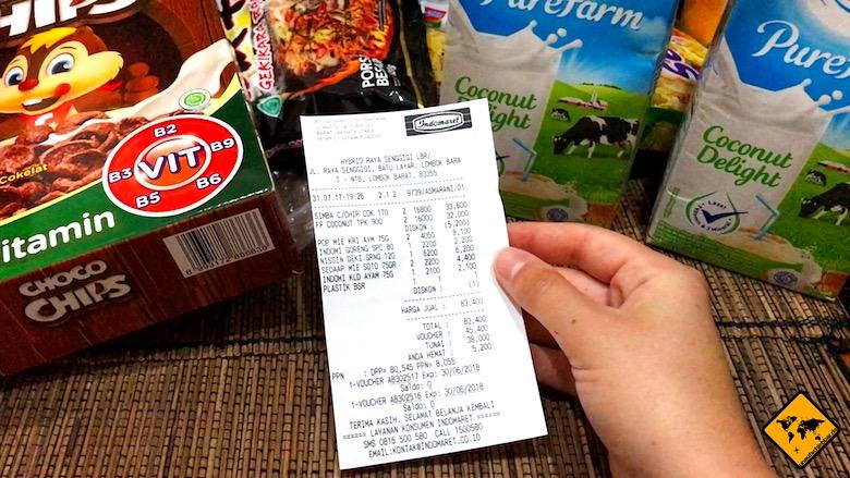 Bali Urlaub Kosten Lebensmittel