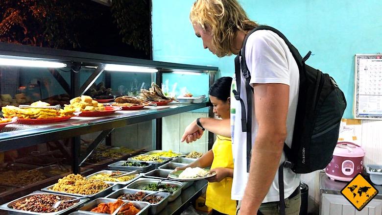 Bali Urlaub Kosten Nasi Campur
