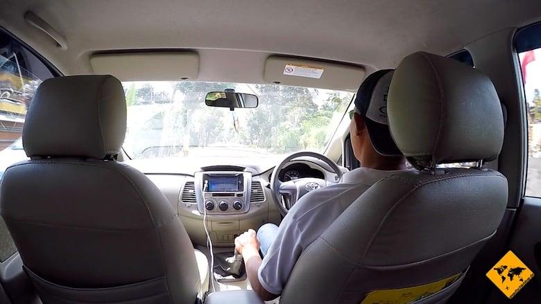 Bali Urlaub Kosten Privat-Fahrer
