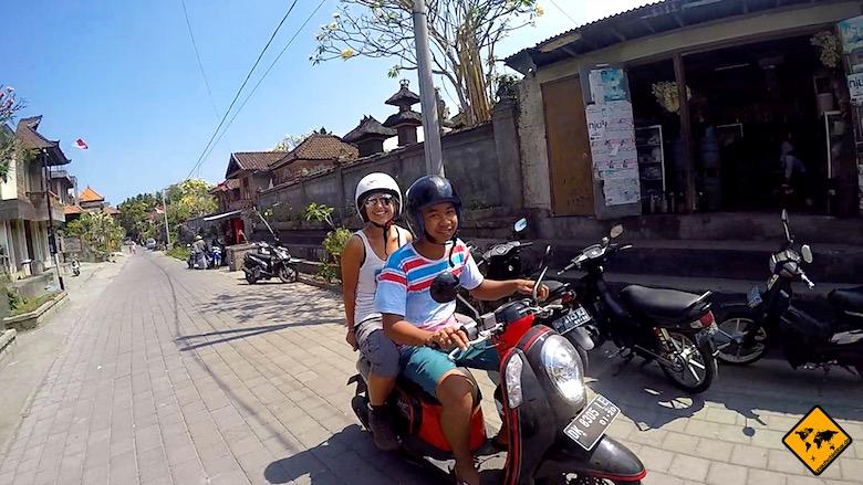 Bali Urlaub Kosten Rollertaxi