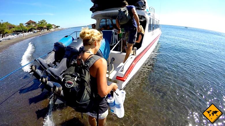 Bali Urlaub Kosten Schnellboot