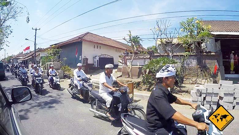 Bali Urlaub gefährlich Straßenverkehr