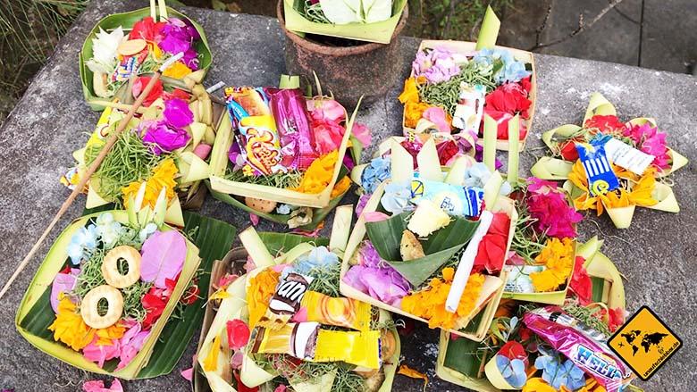 Bali oder Lombok Opfergaben
